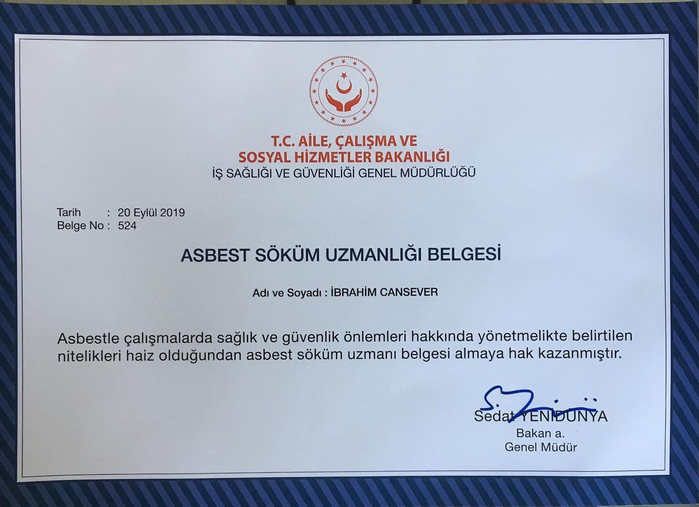 Antalya 'da yıkım öncesi Asbest Raporu yaptırmak zoruınludur. Antalya 'da Asbest Raporu hazırlatmak istiyorsanız bizimle iletişime geçiniz. Asbest raporu numune alma işlemi dahil yaklaşık 1 hafta sürmektedir