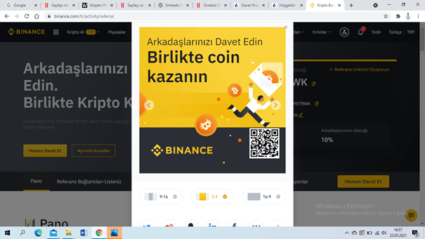 Click the link for Binance global or scan the barcode and become a member. https://accounts.binance.com/tr/register?ref=YFME7BWK